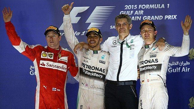 Mercedes y Ferrari brindan espectáculo en el Gran Premio de Bahrein