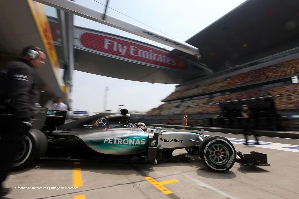 GP Premio de China: Hamilton, Rosberg y Vettel suben al podio