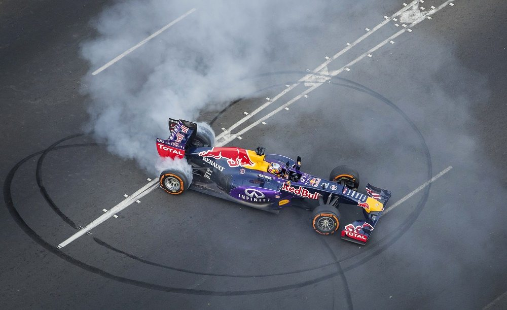 Carlos Sainz Jr. performs during the Red Bull Show Run 2015 in Lima, Peru on May 31th, 2015.