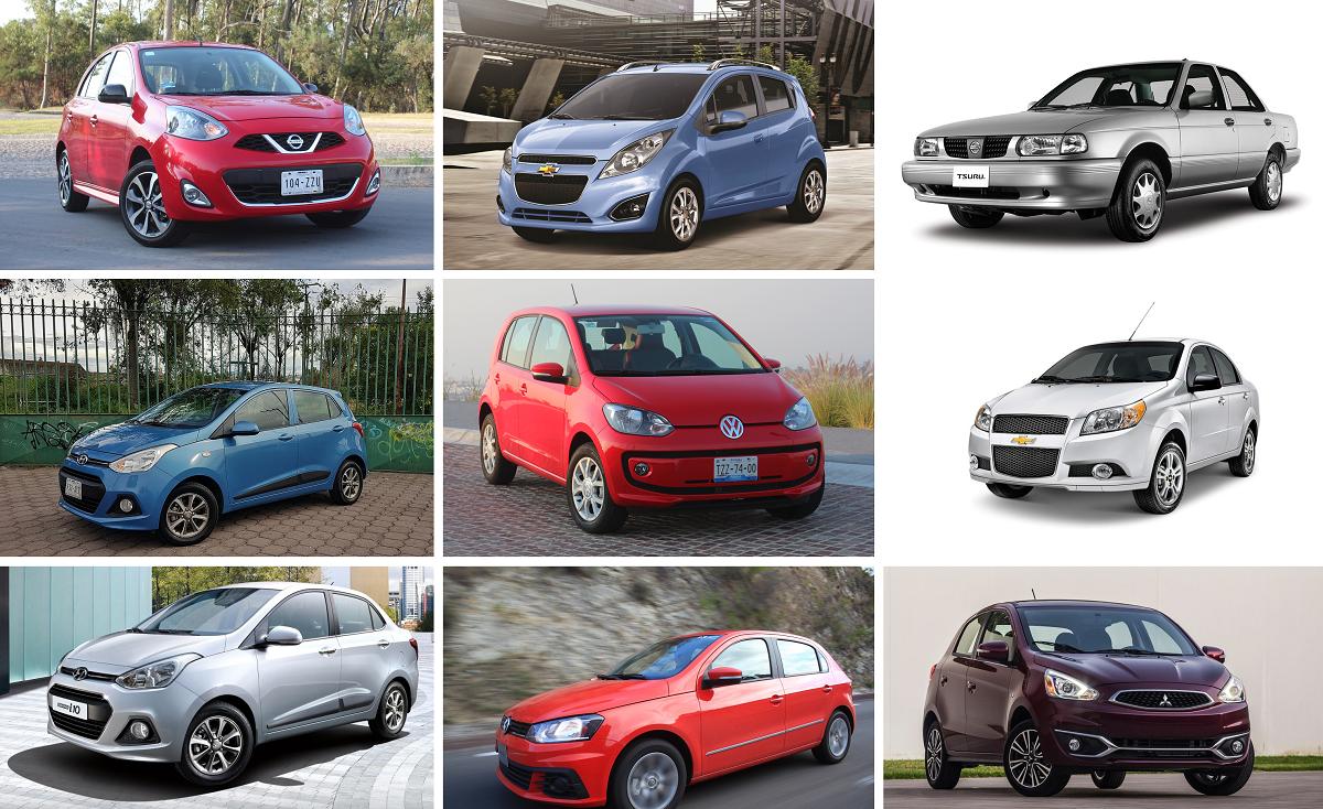Los nueve autos más baratos que se pueden comprar en México